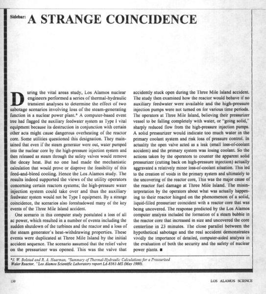 A Strange Coincidence